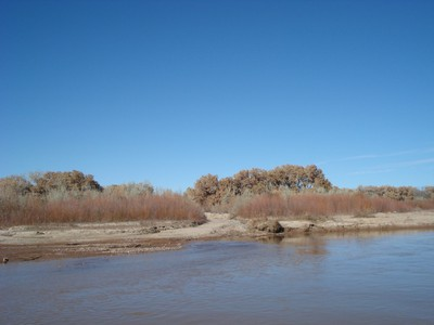 Calabacillas at confluence with Rio Grande